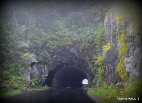 Rainy Tunnel Entrance
