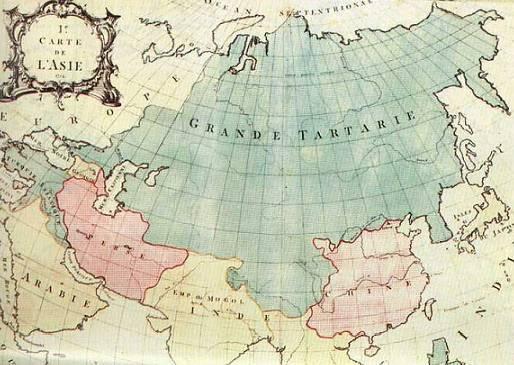 Карта Азии - Великая Тартария