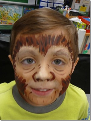 Maquillaje de gorila (2)