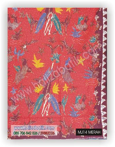 Motif Kain Batik, Kain Batik Modern, Baju Online Murah, MJ14 MERAH