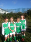 Emer Sheehan ,Aine Higgins, Sinead O'Flynn and Aoife Allen U10 girls with the Cork Panel