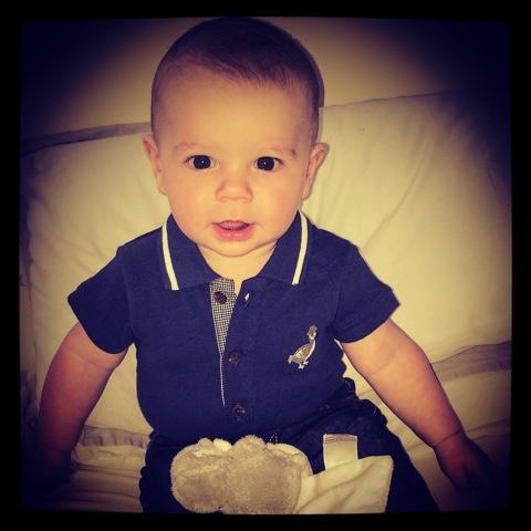 baby navy top