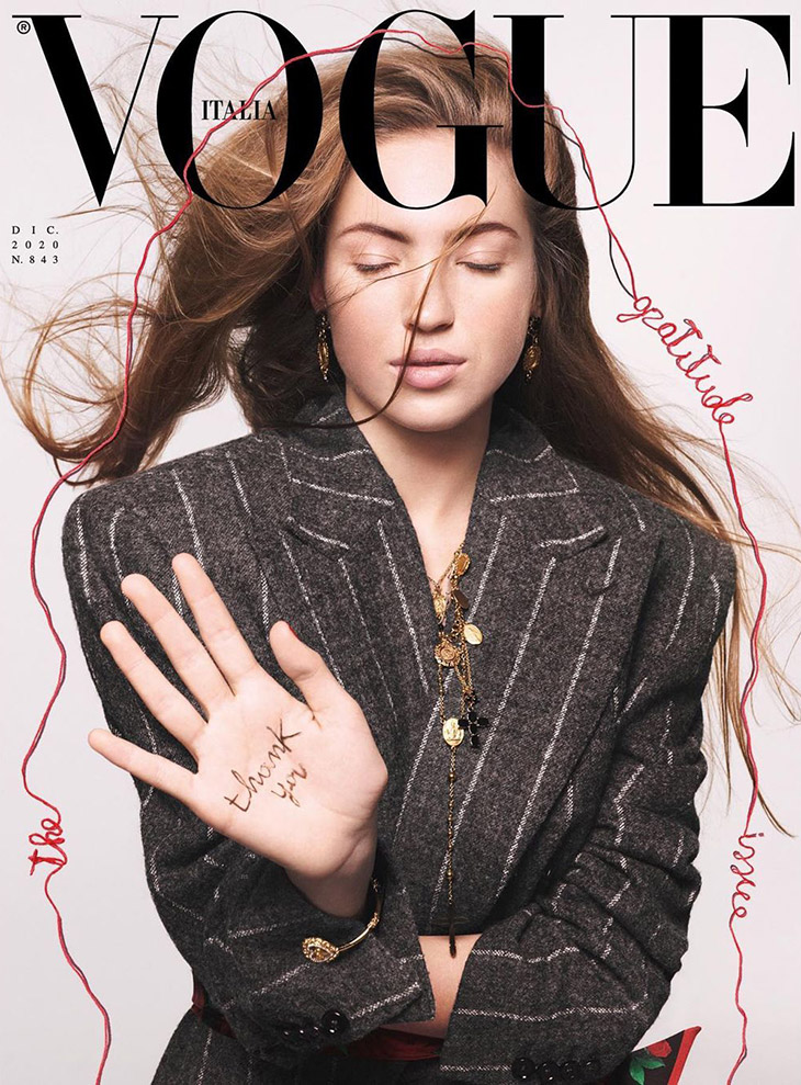 Lila Moss is the Cover Star of Vogue Italia December 2020 Issue