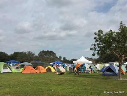 A field full of tents