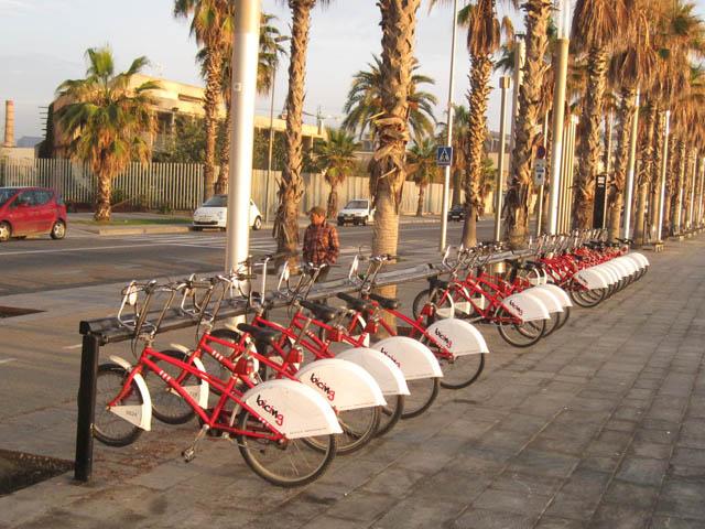 貸し出しシェア自転車@バルセロナ