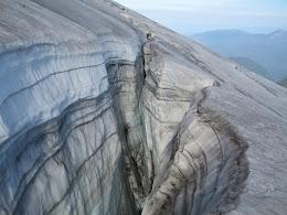 Crevasse on Mt Baker.