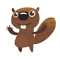Funny Beaver Moose Free Download Vector CDR, AI, EPS and PNG Formats
