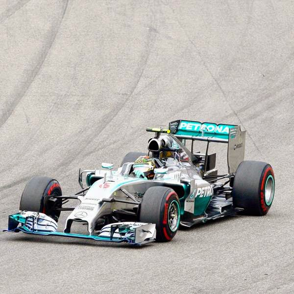 Mercedes driver Nico Rosberg of Germany cuts a curve during the German Formula One Grand Prix in Hockenheim, Germany, Sunday, July 20, 2014.