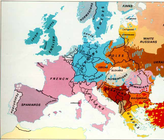 ethnic map europe 1914 sab's world :): The Ethnic Map of Europe (1914)