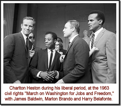 Charlton Heston, James Baldwin, Marlon Brando & Harry Belafonte, 1963 rev