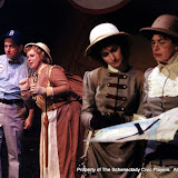 Colin McCarty, Christine Boice Saplin, Eileen McCashion and Rita Russell in ON THE VERGE - January/February 2000.  Property of The Schenectady Civic Players Theater Archive.