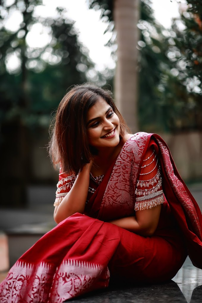 Remya Nambeesan Is Looking So Gorgeous In Red Saree