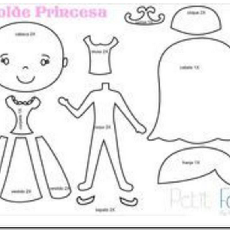 MolDe fieltro princesa Sofia
