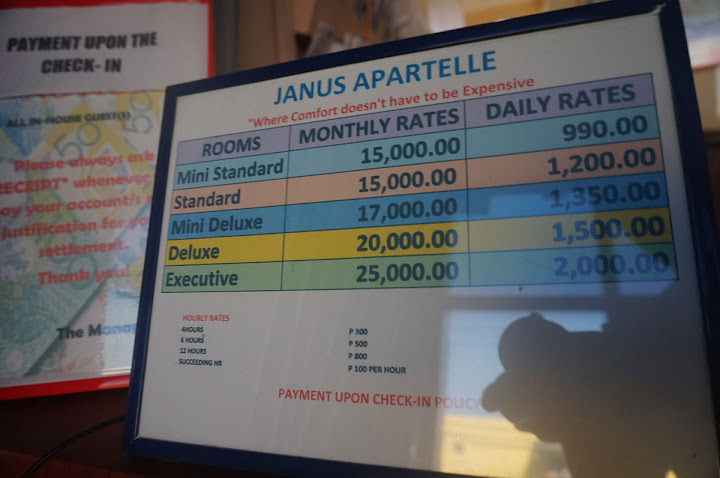 Janus Apartelle Rate