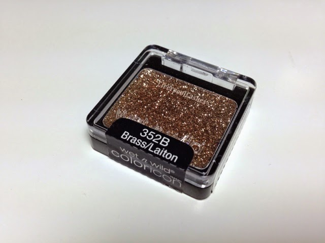 liverpoollashes liverpool lashes wet n wild glitter shadow B352 Brass
