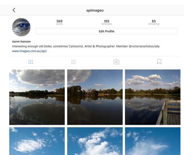 Screen Captute of a recent 3 Across Instagram Post