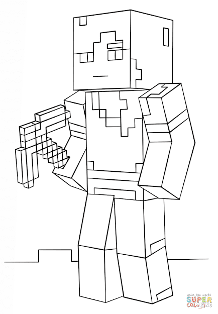 Minecraft Alex  Super Coloring