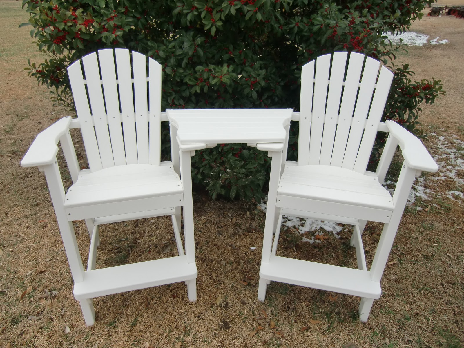 Luxury  Outdoor Adirondack Chair Our wood version of same great chair made of high quality pressure treated deck boards and the same ergonomic design and high