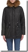 Whistles Black Waxy Parka Jacket