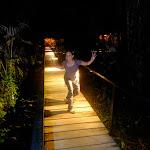 Natalia on the lodge boardwalk