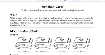 Haley's Chemistry Blog: Pogil Significant Zeros