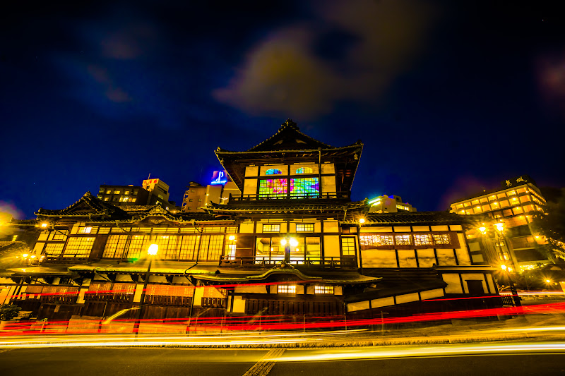 Dogo Hot Spring main building illumination south side1