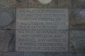 Inscription at the Roosevelt Memorial