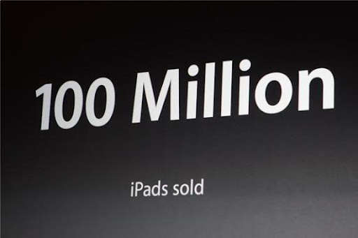 Apple iPad全球銷量達到1億台