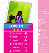 Teen Vogue Me Girl Level 66 - Futuristic Prints Shoot - Payton - Love It! Three Stars