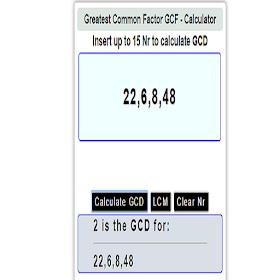 GCD Calculator Free Online