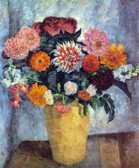 Ilya Mashkov - Motley bouquet in a clay jar