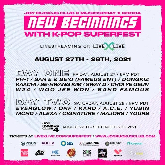 Joy Ruckus Club x Musicspray x Kocca Presents New Beginnings with Kpop Superfest