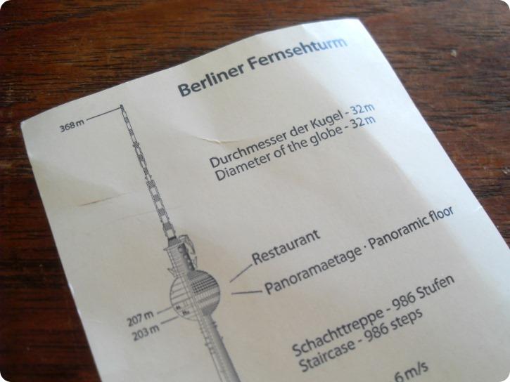 Billet fjernsynstårnet Berlin