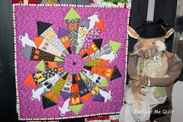 dresden neighborhood halloween quilt