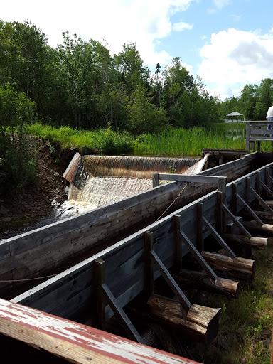 The river, which will power the grist mill. From  Acadian History Comes Alive in a New Brunswick Village