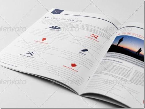 Plantilla de 12 páginas, diseño moderno (Word e InDesign)