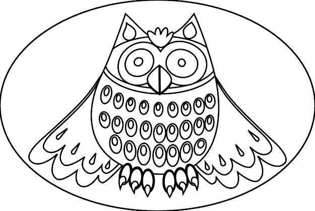 Free Girly Flowers Coloring Pages With Owl Coloring Pages