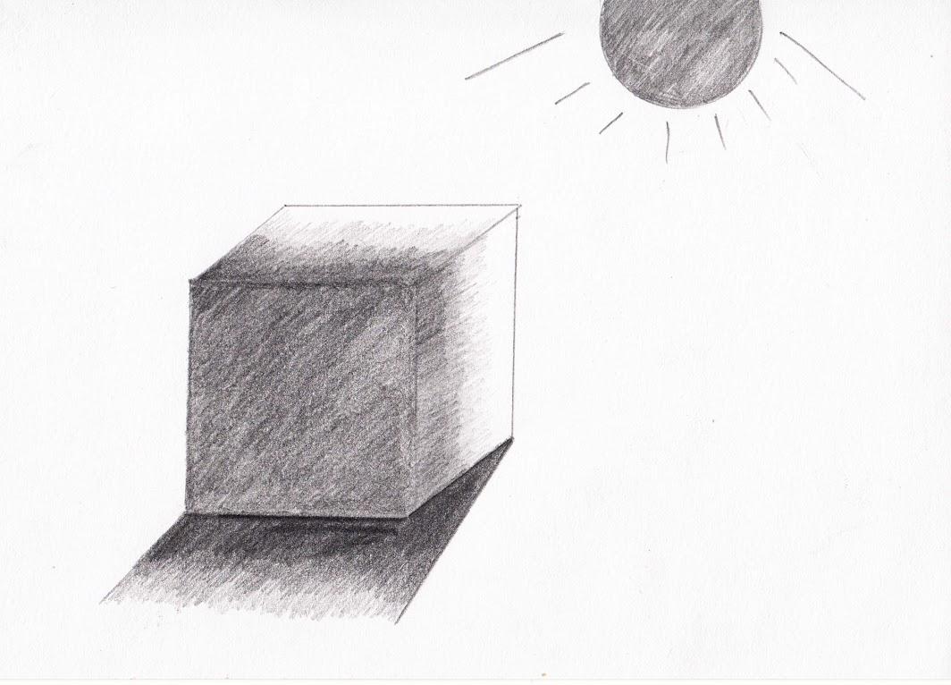 Menggambar Bayangan Pada Kubus Dengan Pensil Belajar Menggambar