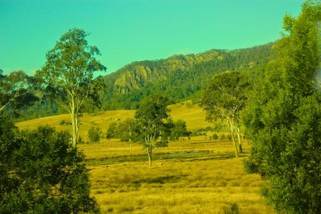 Riding the rails in Red Rock, Australia - the bush corridor