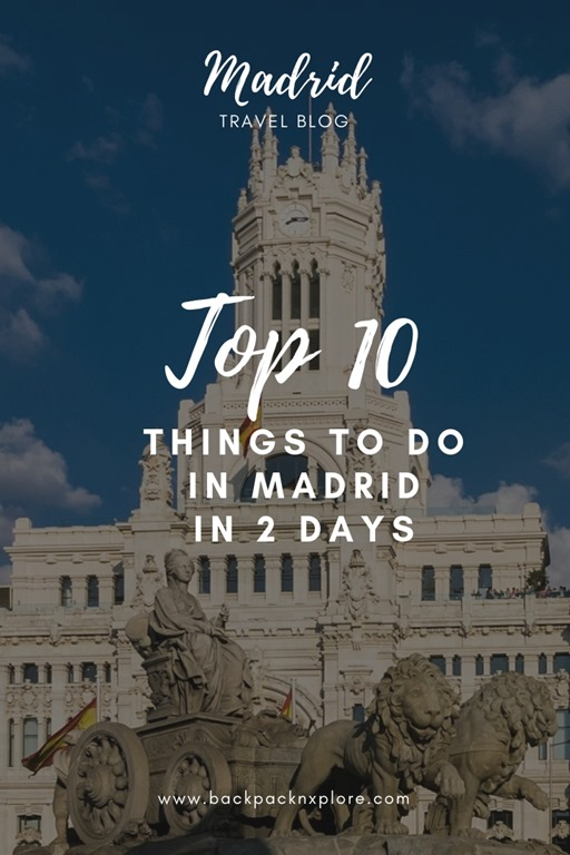 Discover the best of Madrid with me in 2 days. The Royal Palace, the picturesque parks, the public squares, the culture and the food - Explore and experience the Spanish Capital #backpacknxplore #Spain