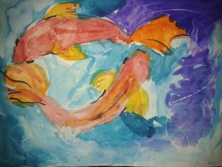 27.05.2015 CТАРШАЯ ГРУПП ТЕМА: Движение, контраст. ТЕХНИКА: Акварель, пастель.