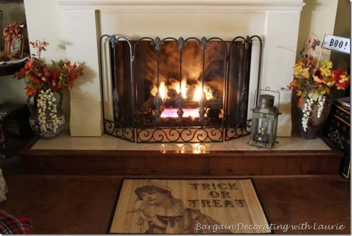 Fall Fireplace Hearth