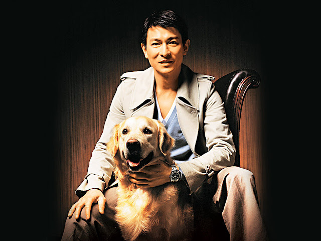 Andy Lau and a dog