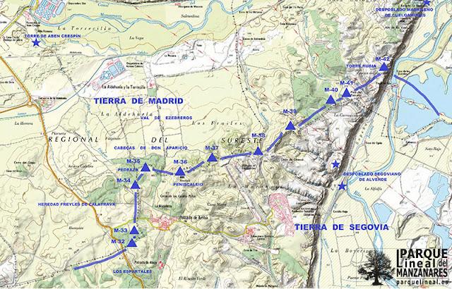 Mapa general del tramo