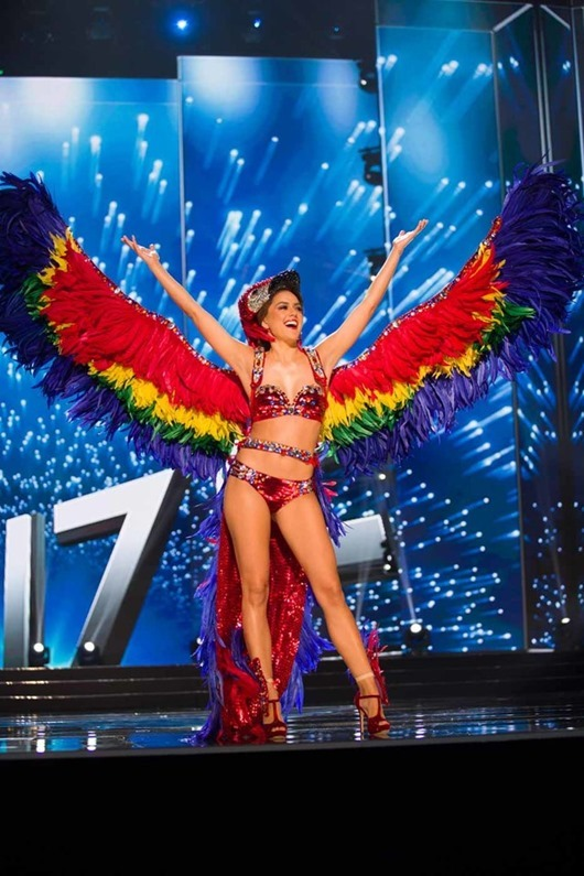 Rebecca Rath, Miss Belize 2016 debuts her National Costume on stage at the Mall of Asia Arena on Thursday, January 26, 2017.  The contestants have been touring, filming, rehearsing and preparing to compete for the Miss Universe crown in the Philippines.  Tune in to the FOX telecast at 7:00 PM ET live/PT tape-delayed on Sunday, January 29, live from the Philippines to see who will become Miss Universe. HO/The Miss Universe Organization