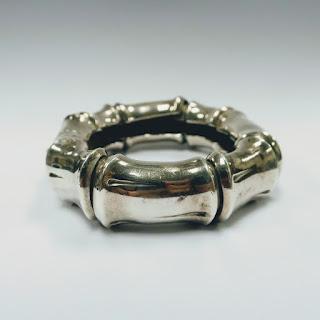 Sterling Silver Bamboo  Bracelet