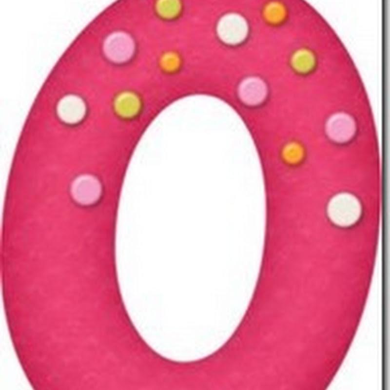 Letras y numeros en rosa para imprimir