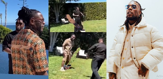 The Heartwarming Moment Burna Boy And Diddy Finally Reunited After Winning The Grammy [VIDEO]