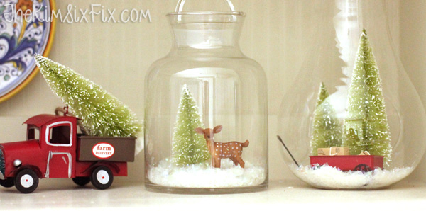 Miniatures in christmas jars