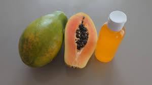 How to make papaya lightening oil